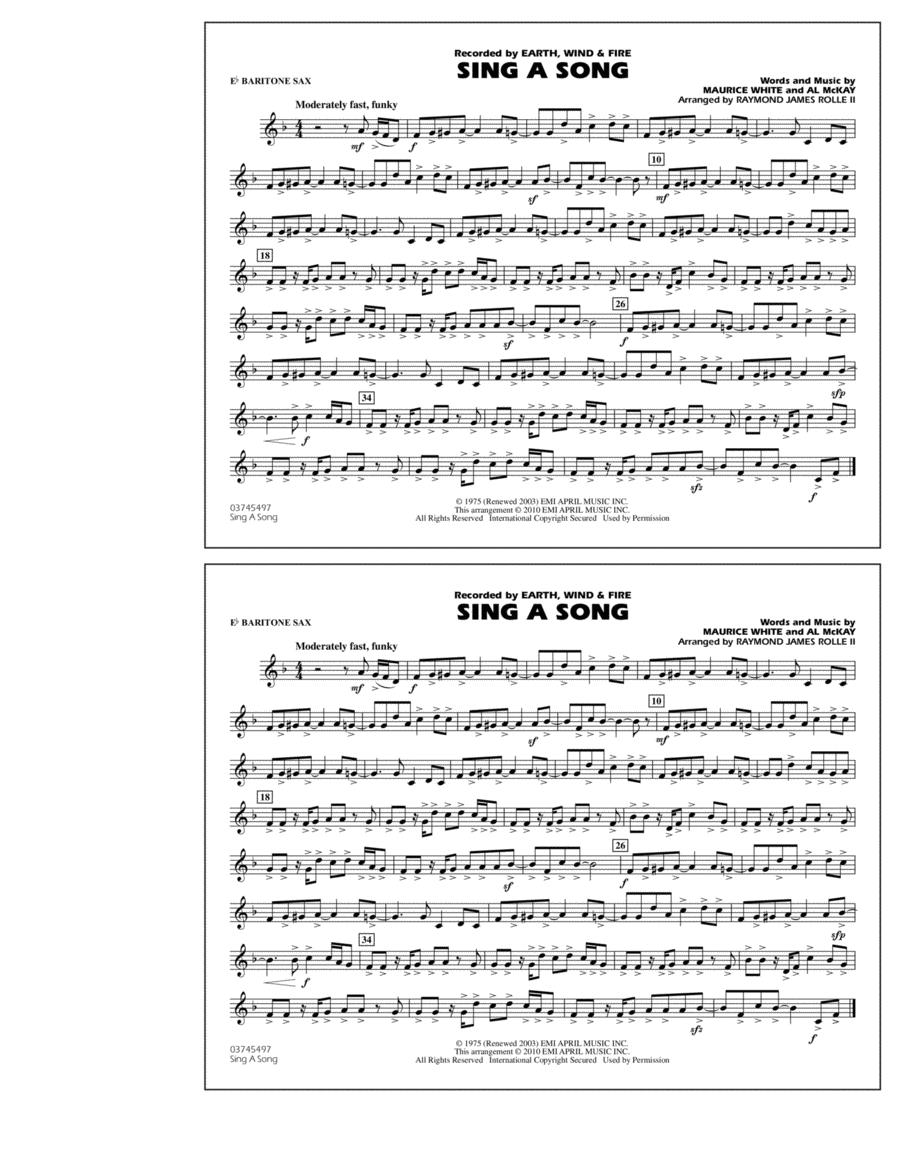 Sing A Song - Eb Baritone Sax