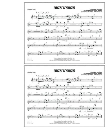 Sing A Song - 1st Bb Trumpet