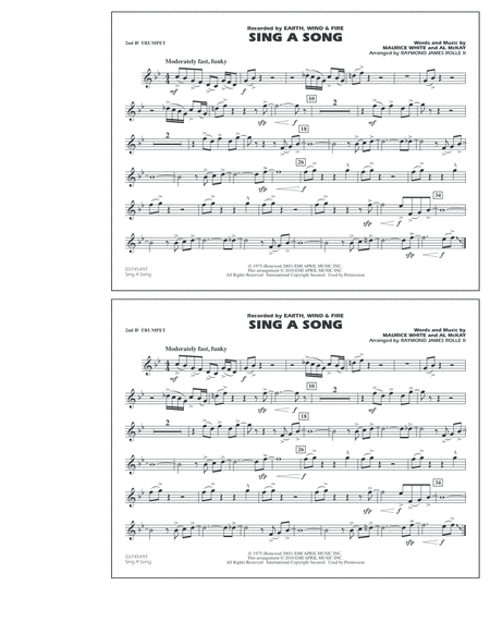 Sing A Song - 2nd Bb Trumpet