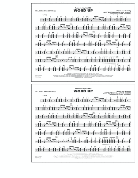 Word Up - Multiple Bass Drums