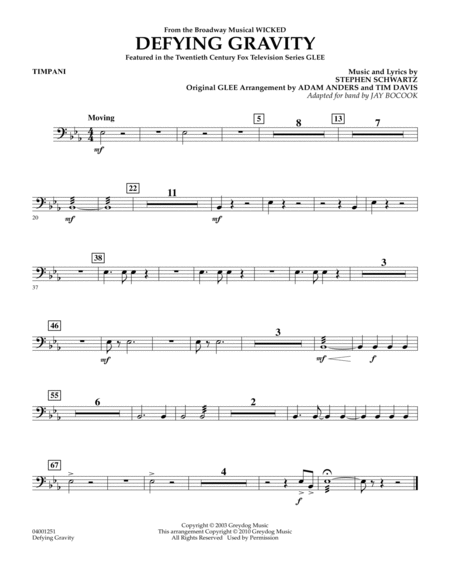 Defying Gravity (from Wicked) - Timpani