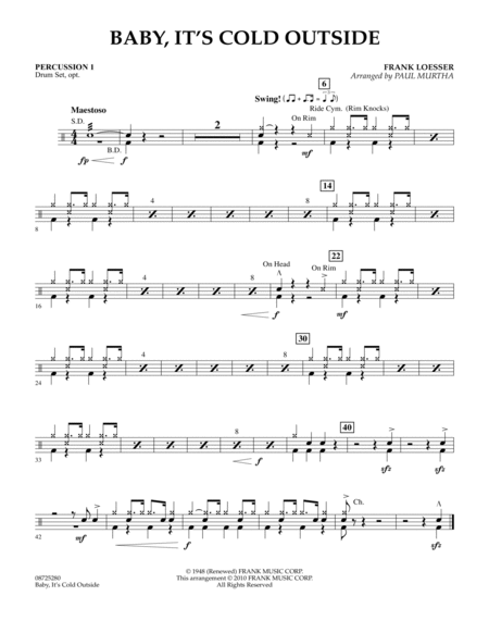 Baby, It's Cold Outside - Percussion 1