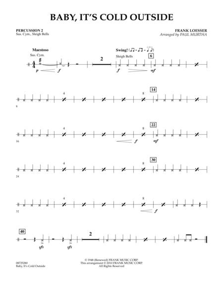 Baby, It's Cold Outside - Percussion 2