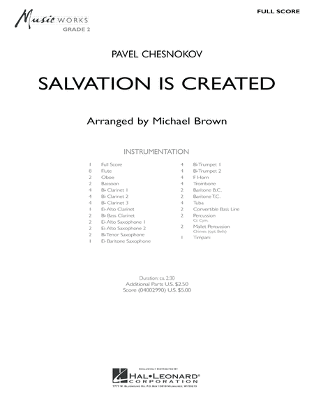 Salvation Is Created - Full Score