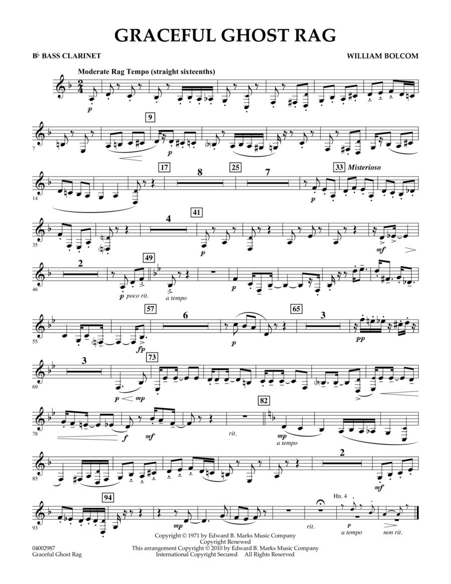 Graceful Ghost Rag - Bb Bass Clarinet