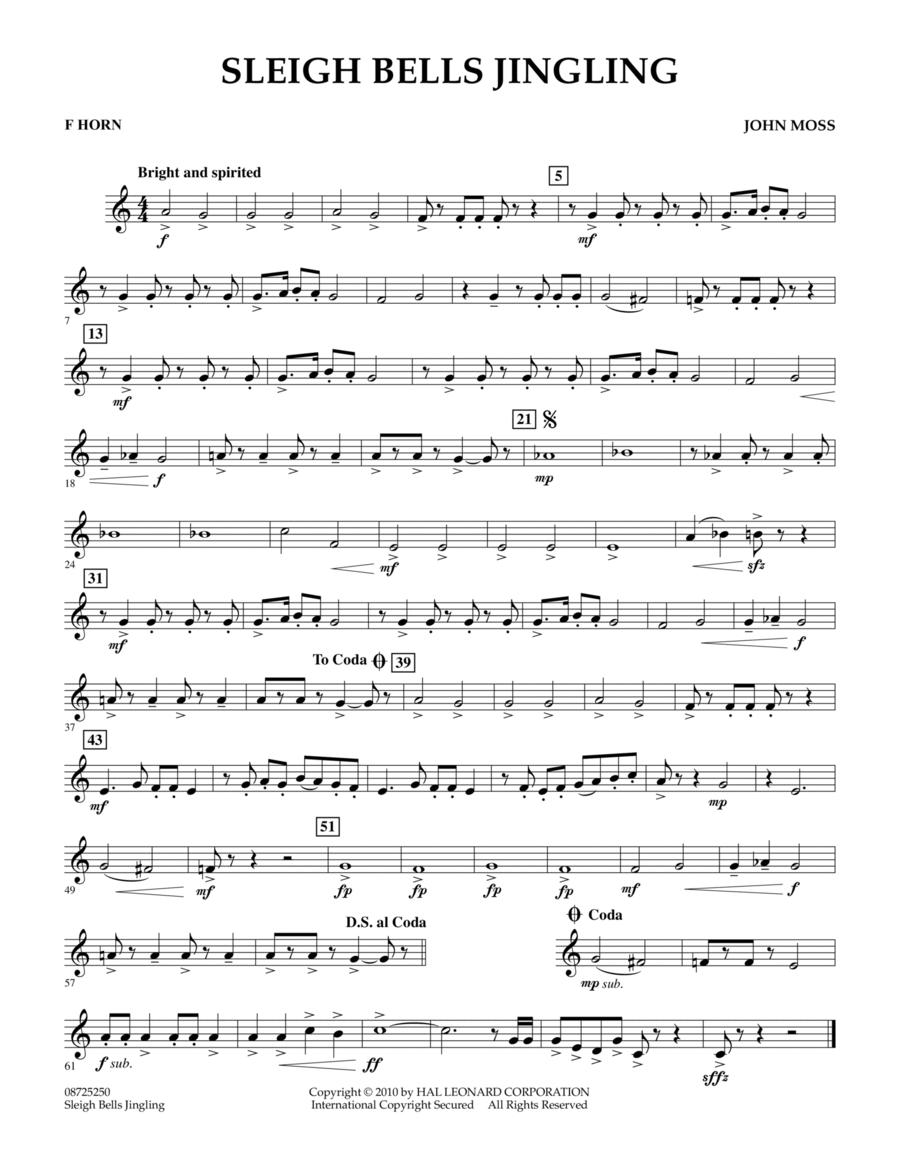 Sleigh Bells Jingling - F Horn