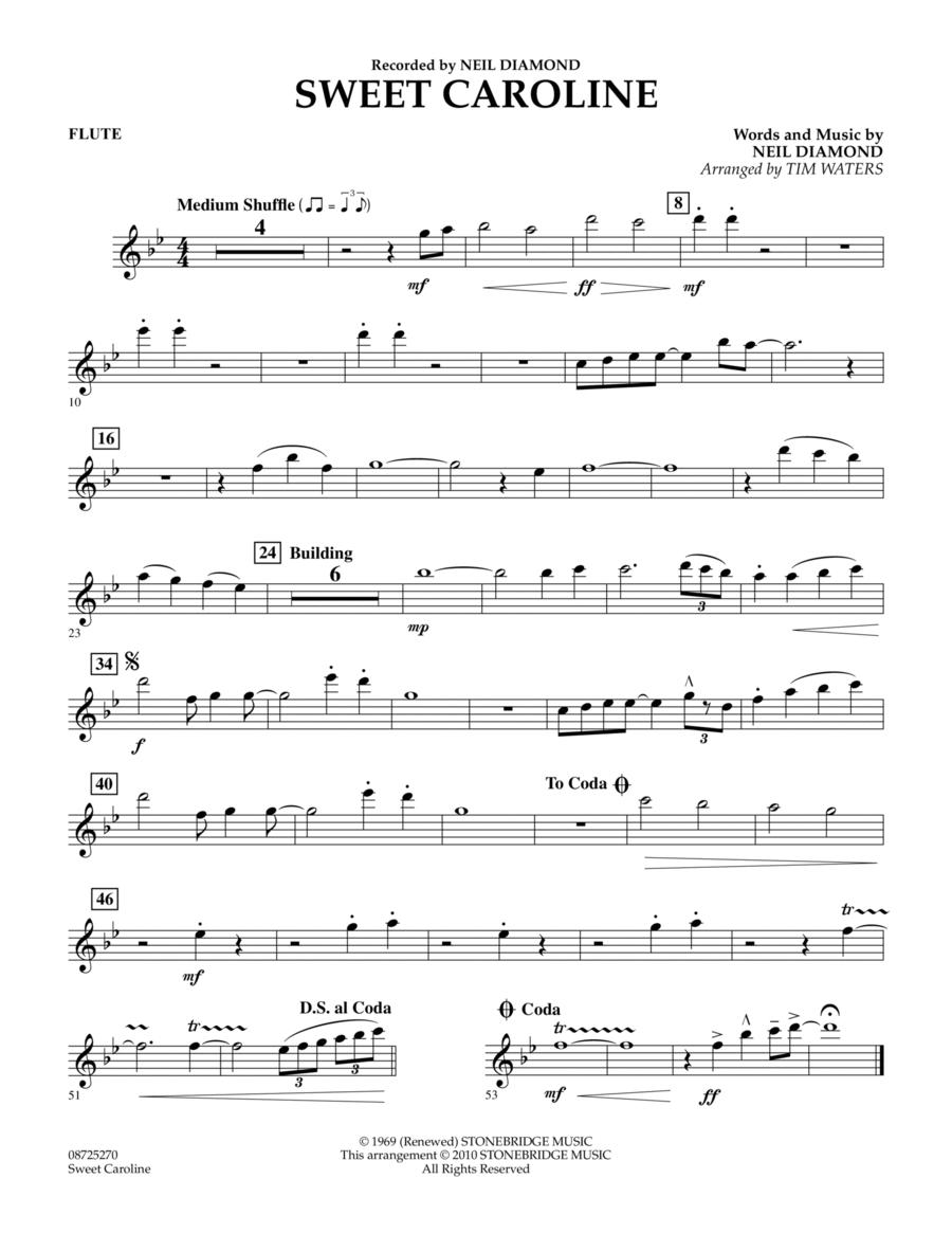 Sweet Caroline - Flute