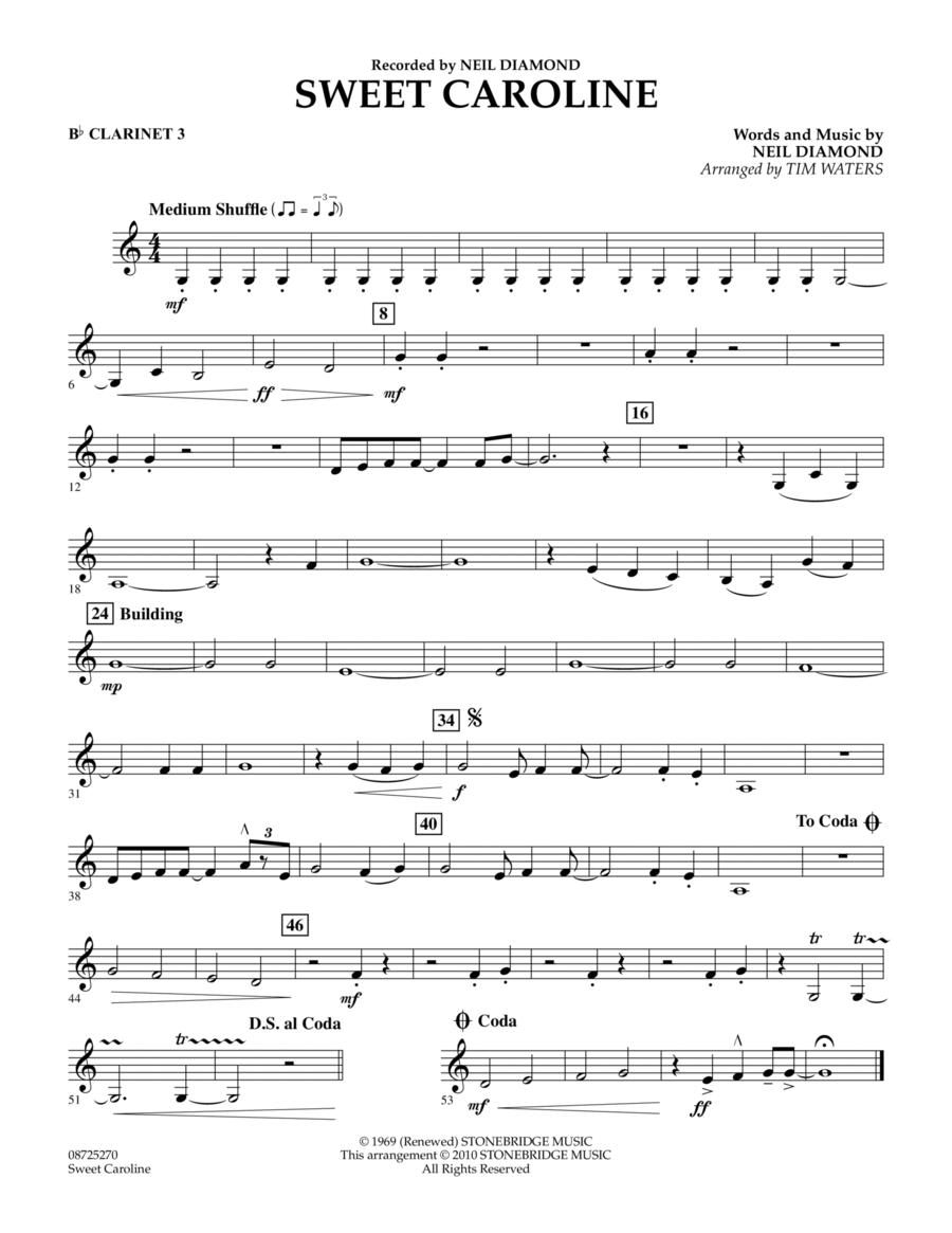 Sweet Caroline - Bb Clarinet 3