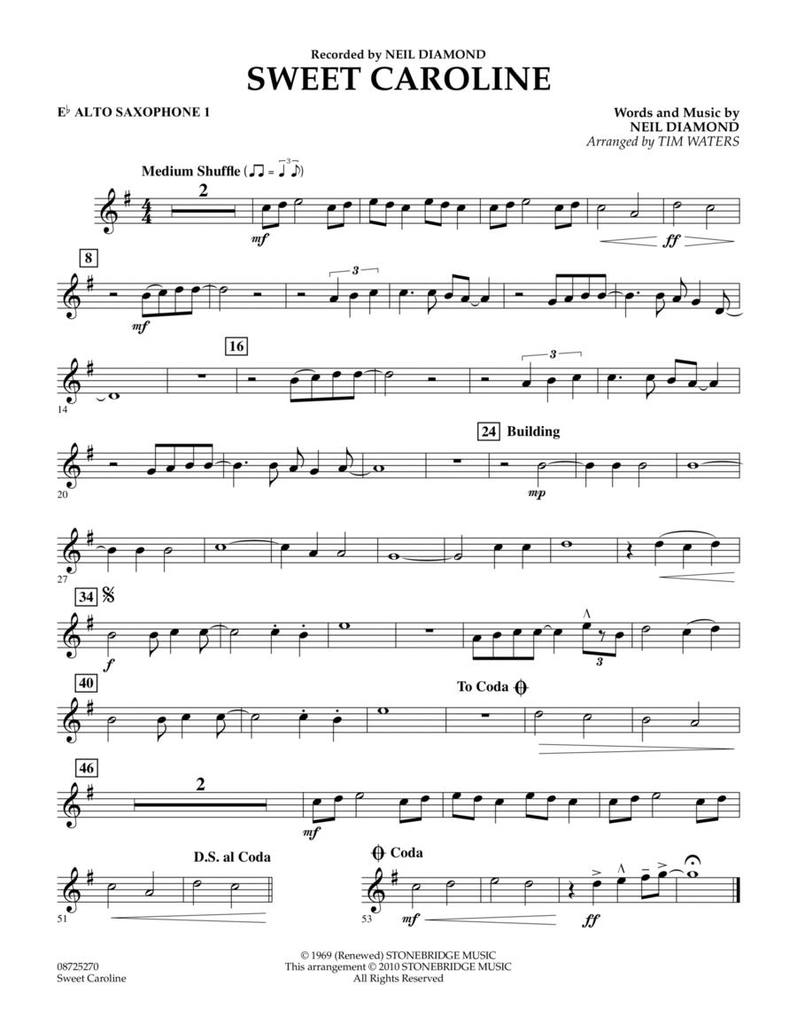 Sweet Caroline - Eb Alto Saxophone 1