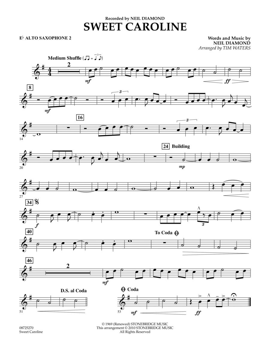 Sweet Caroline - Eb Alto Saxophone 2