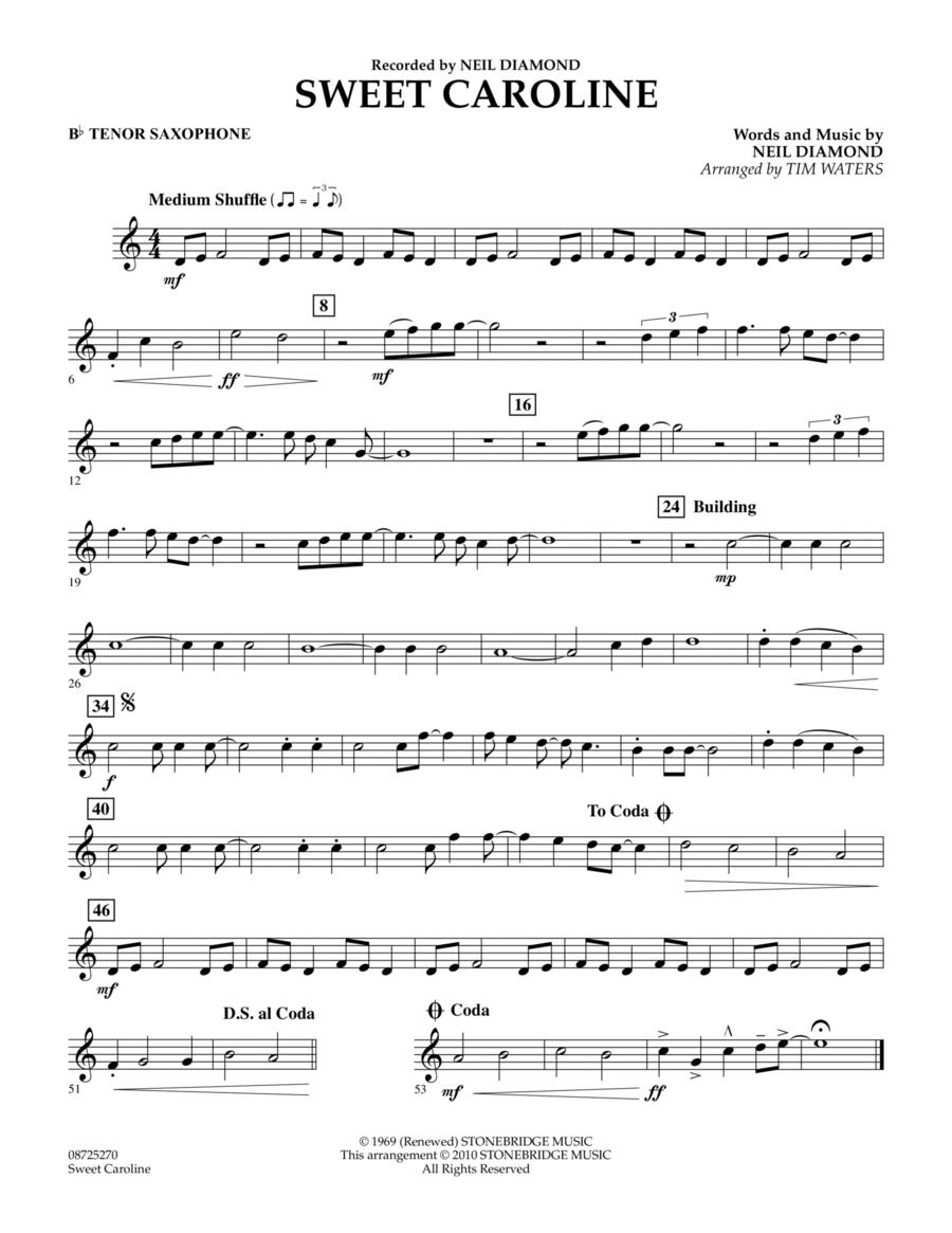Sweet Caroline - Bb Tenor Saxophone