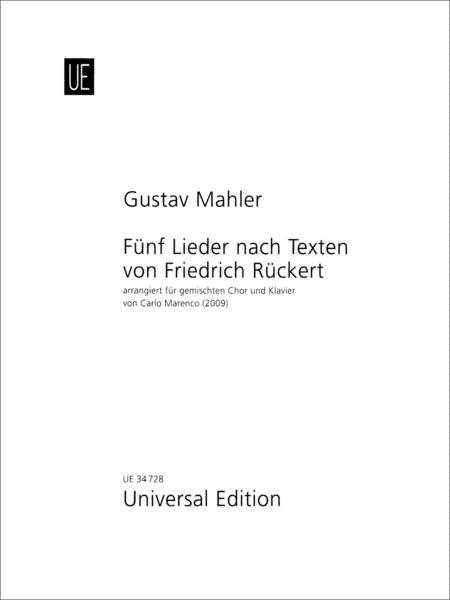 5 Lieder Nach Texten Von Friedrich Ruckert
