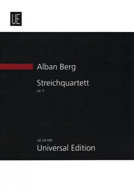 Streichquartett Op.3 (String Quartet Op.3)