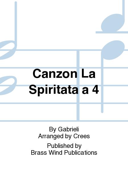 Canzon La Spiritata a 4
