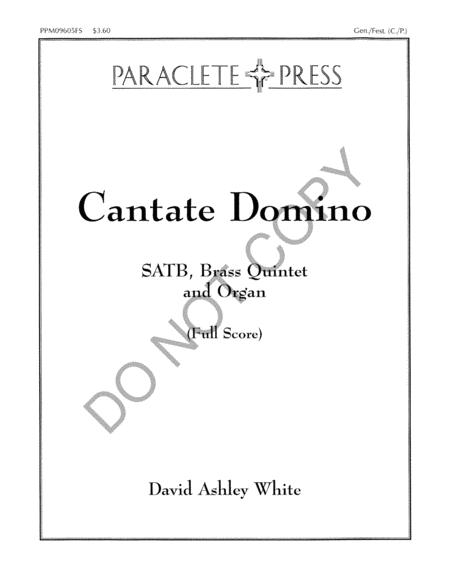 Cantate Domino - Full Score