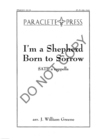 I'm a Shepherd Born to Sorrow