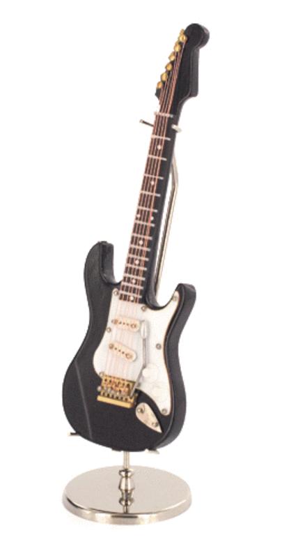 miniature instrument: black electric guitar