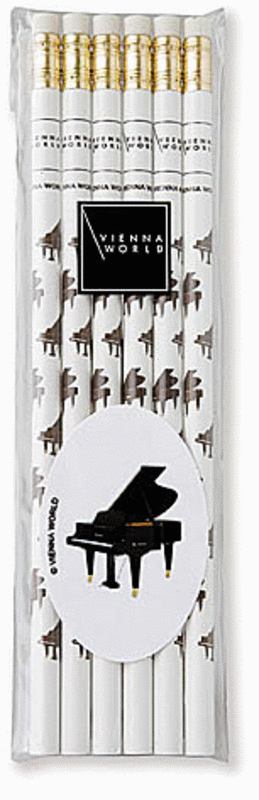 Music pencil set piano (set of 6)