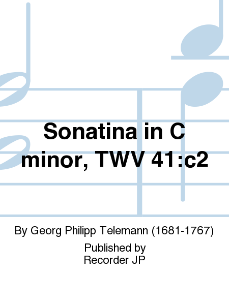 Sonatina in C minor, TWV 41:c2