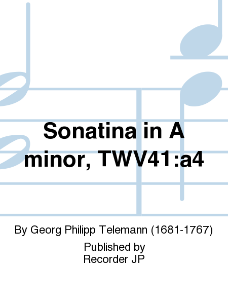 Sonatina in A minor, TWV41:a4