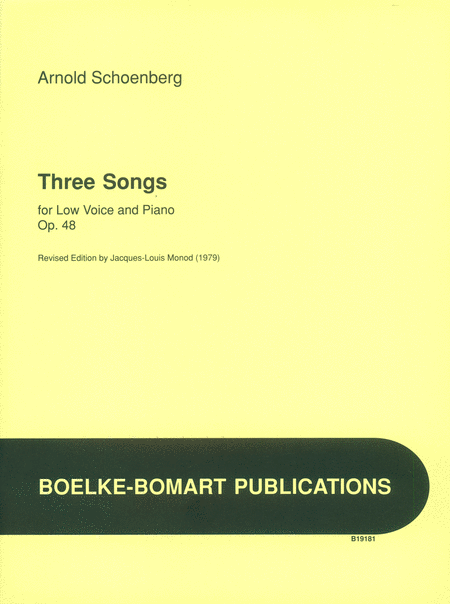 Songs 3 for Low Voice and Piano, Op. 48 G-E