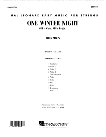 One Winter Night (All Is Calm, All Is Bright) - Full Score