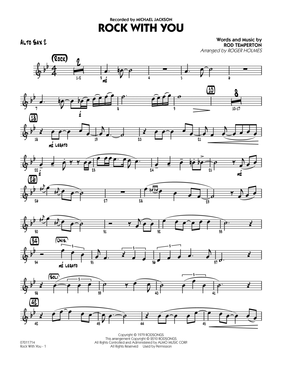Rock With You - Alto Sax 2