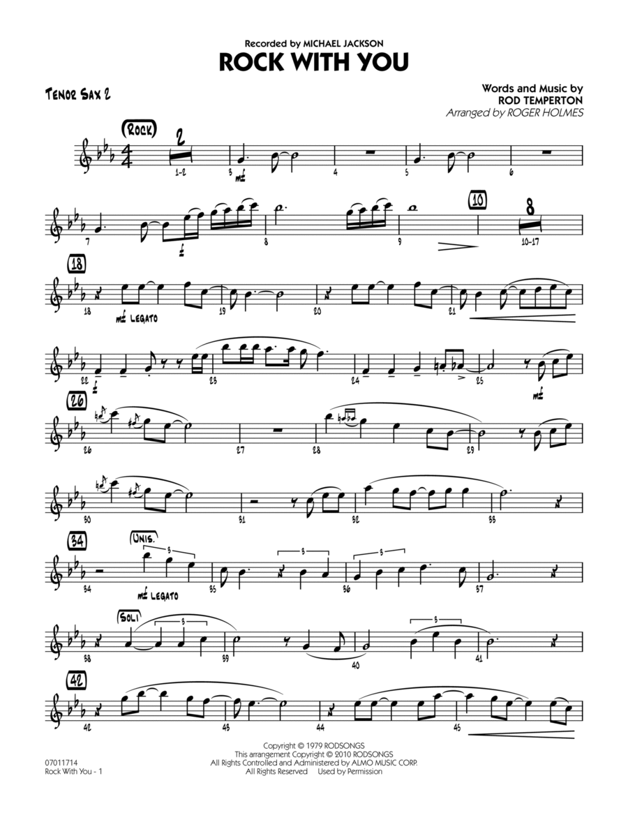 Rock With You - Tenor Sax 2