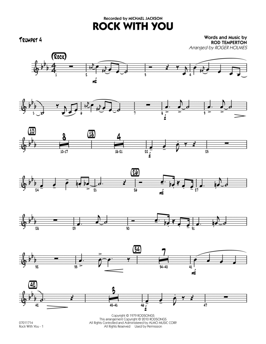 Rock With You - Trumpet 4