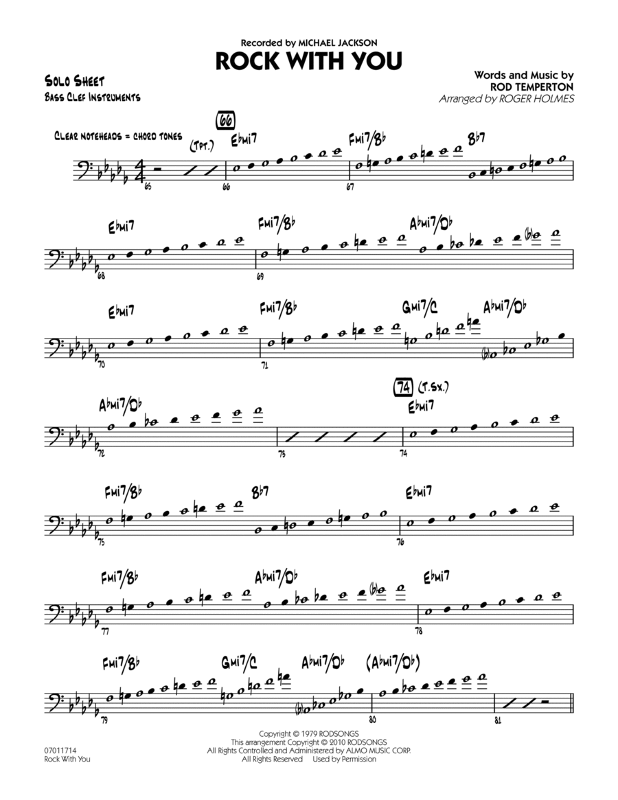 Rock With You - C Bass Clef Solo