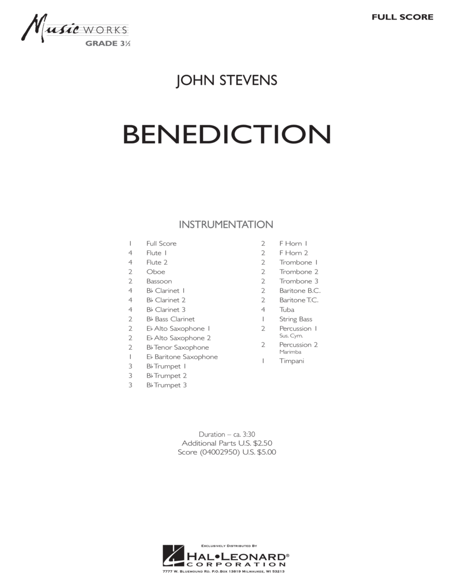 Benediction - Full Score