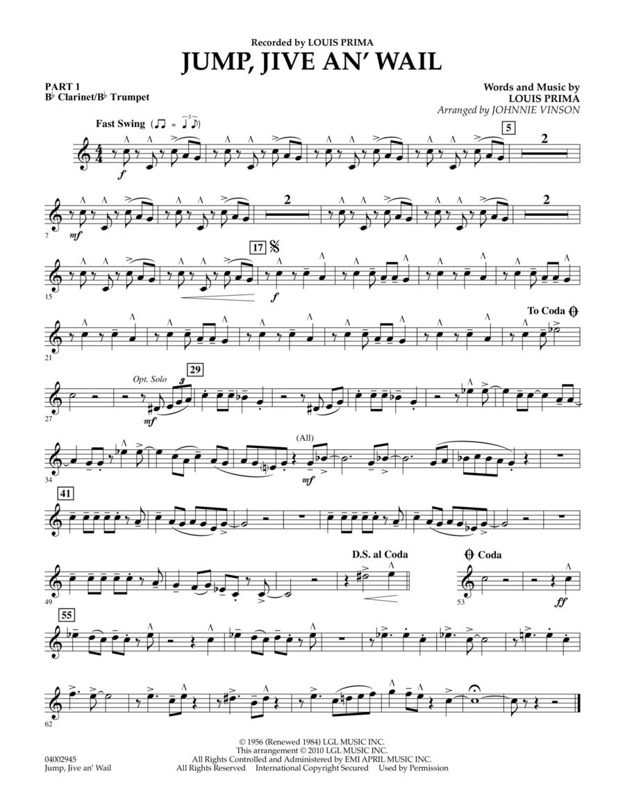 Jump, Jive An' Wail - Pt.1 - Bb Clarinet/Bb Trumpet