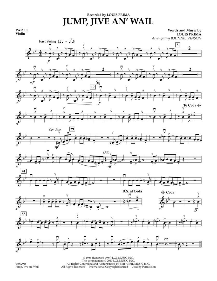 Jump, Jive An' Wail - Pt.1 - Violin