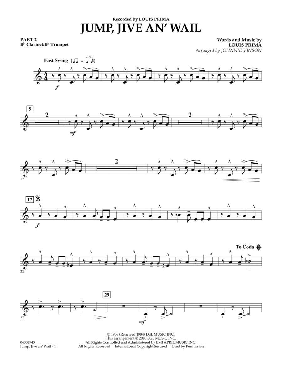 Jump, Jive An' Wail - Pt.2 - Bb Clarinet/Bb Trumpet