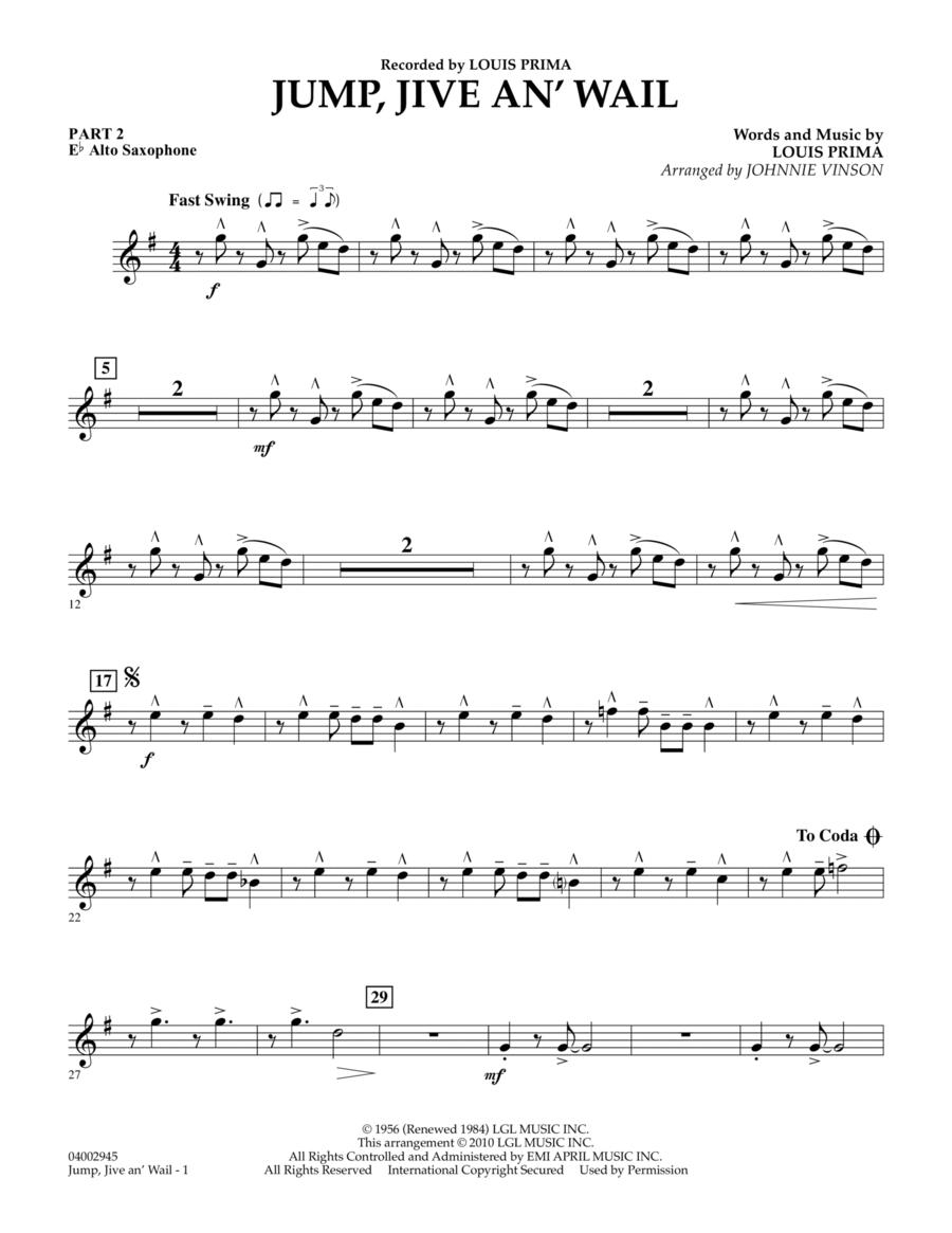 Jump, Jive An' Wail - Pt.2 - Eb Alto Saxophone