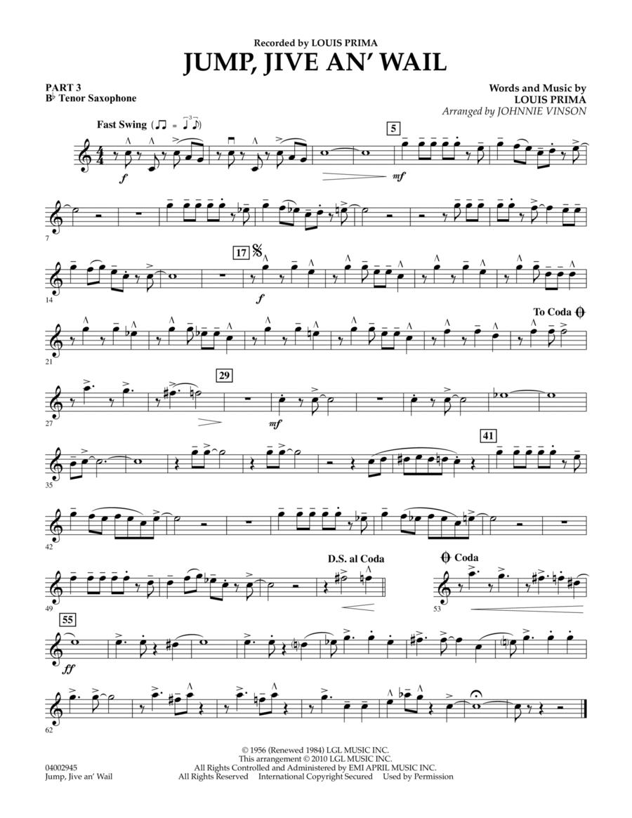 Jump, Jive An' Wail - Pt.3 - Bb Tenor Saxophone