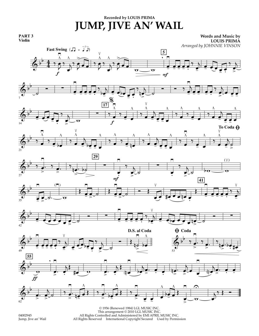 Jump, Jive An' Wail - Pt.3 - Violin