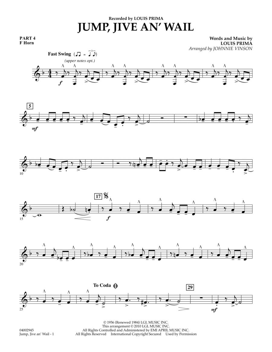 Jump, Jive An' Wail - Pt.4 - F Horn