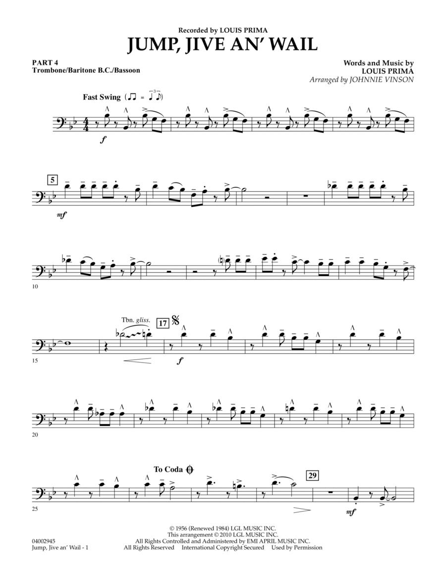 Jump, Jive An' Wail - Pt.4 - Trombone/Bar. B.C./Bsn.