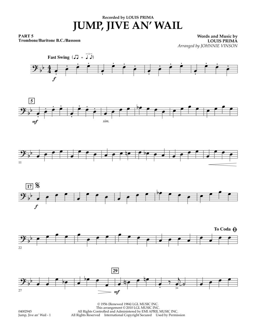 Jump, Jive An' Wail - Pt.5 - Trombone/Bar. B.C./Bsn.
