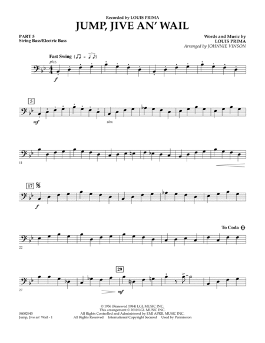 Jump, Jive An' Wail - Pt.5 - String/Electric Bass
