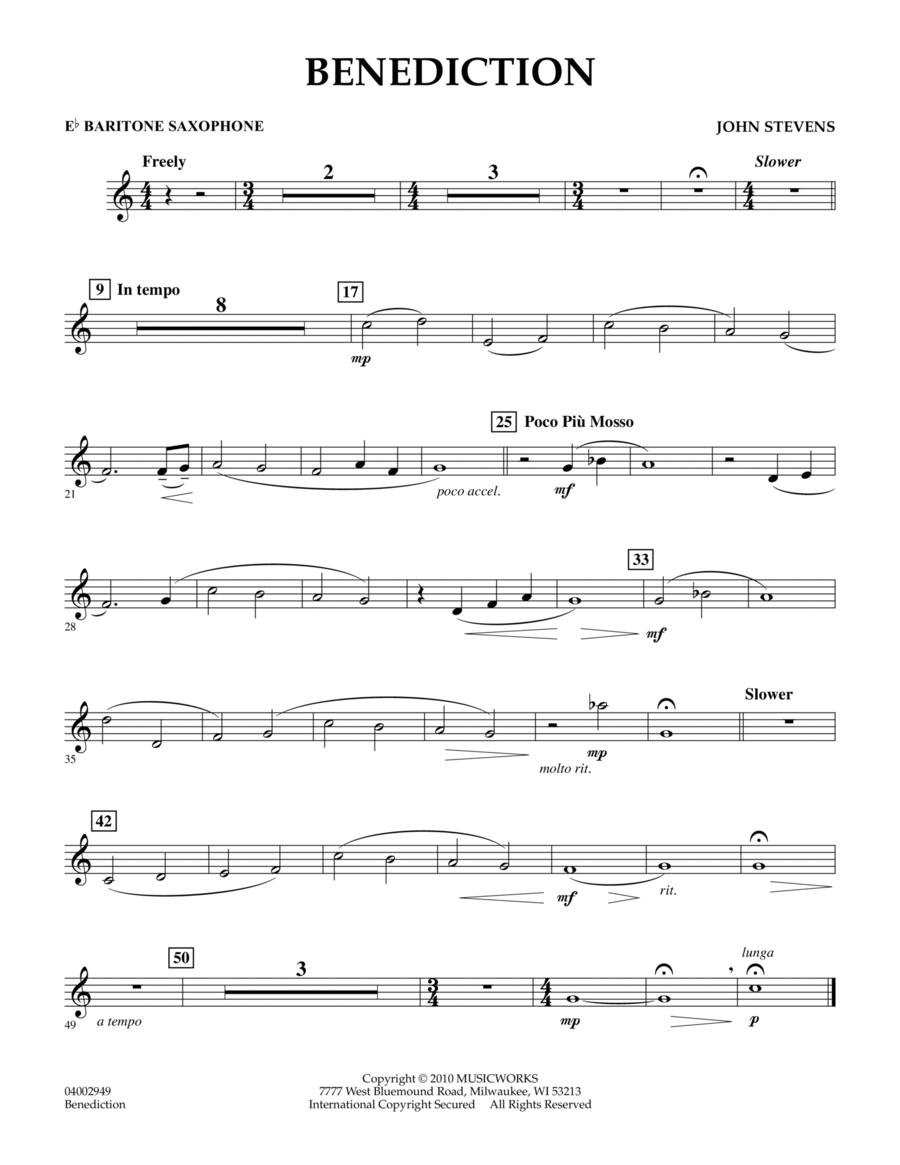 Benediction - Eb Baritone Saxophone