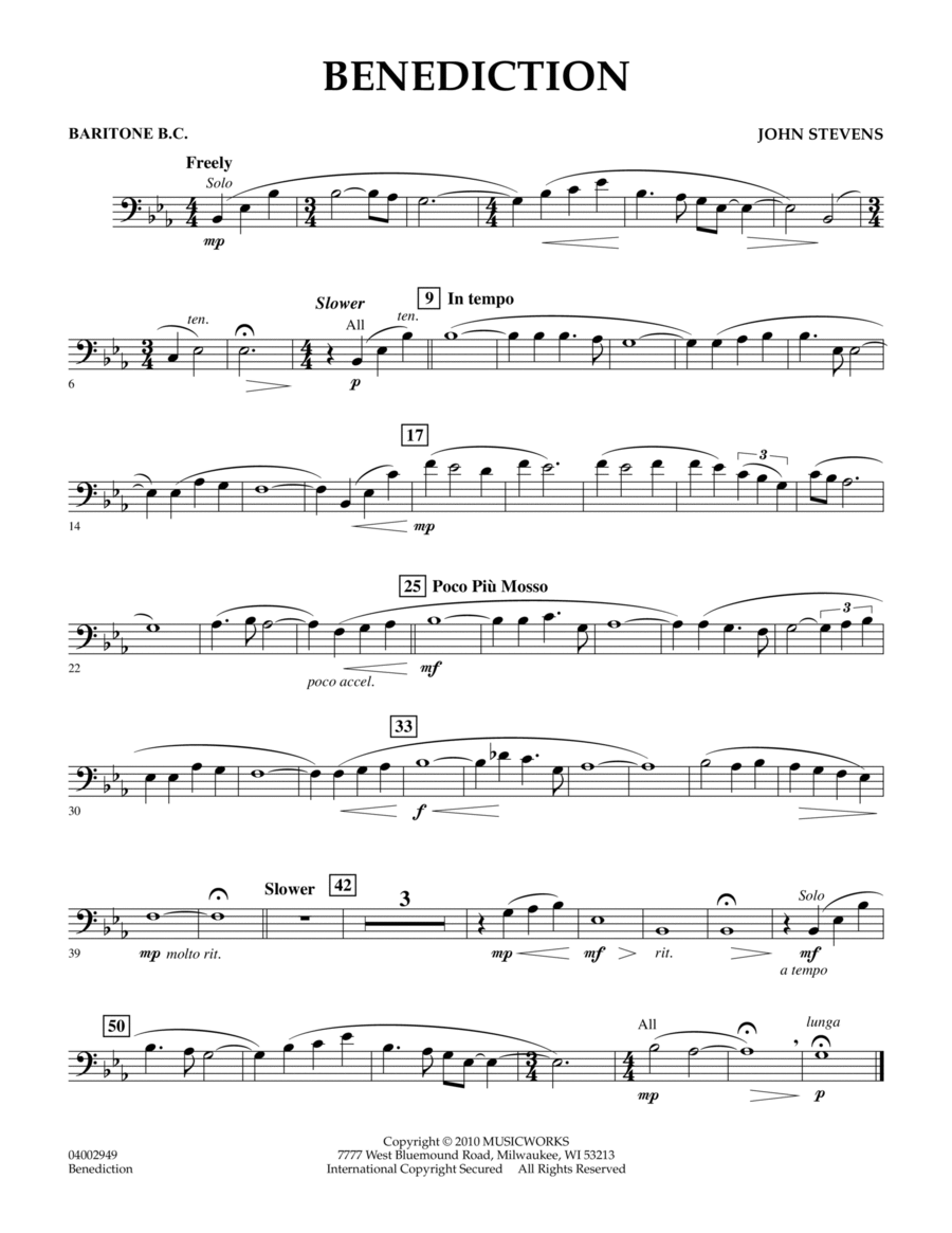 Benediction - Baritone B.C.
