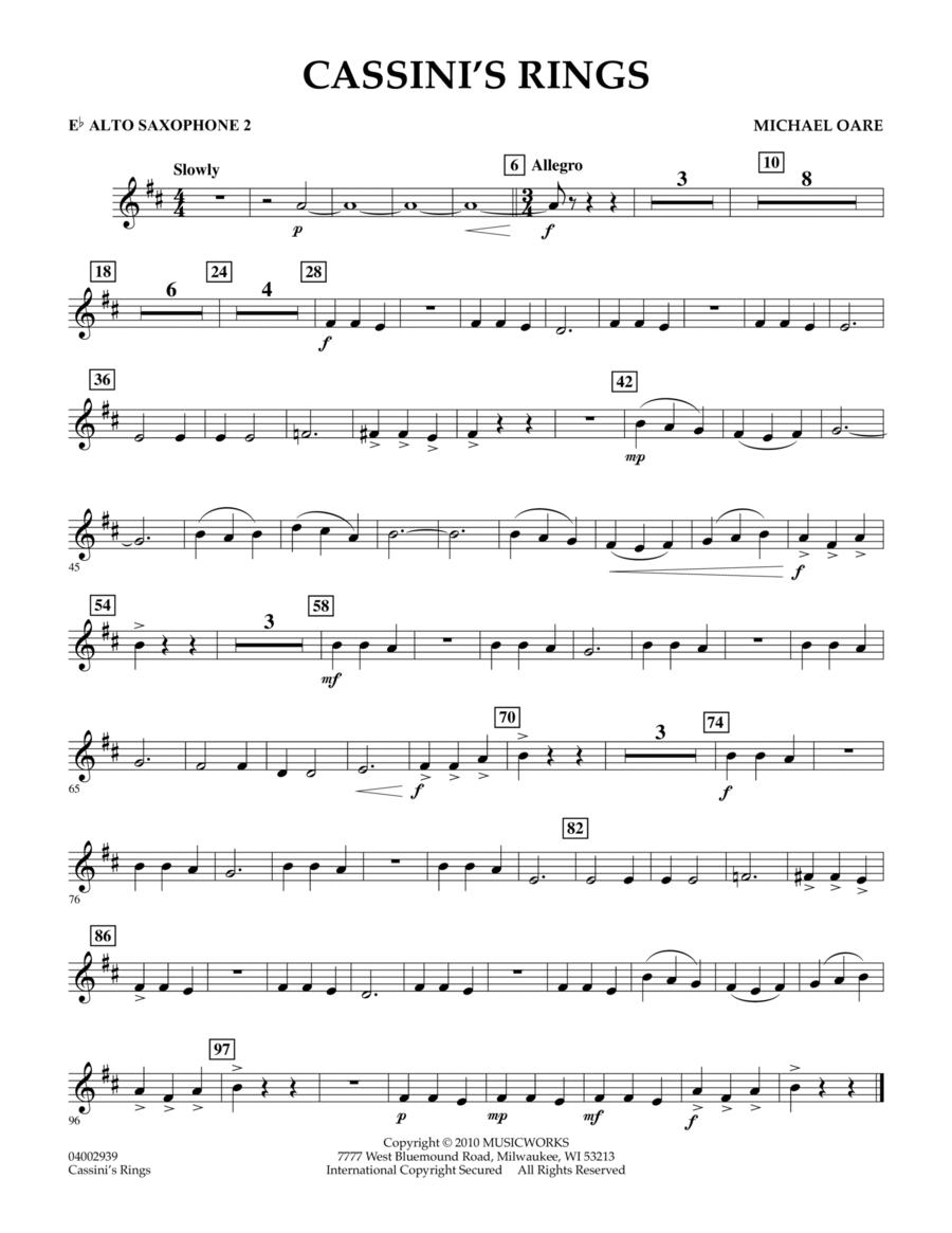 Cassini's Rings - Eb Alto Saxophone 2
