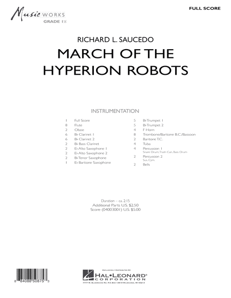 March Of The Hyperion Robots - Full Score