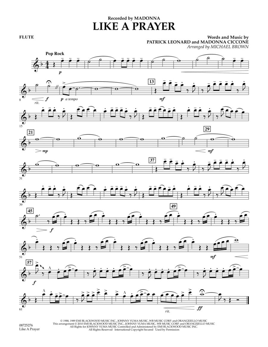 Like A Prayer - Flute