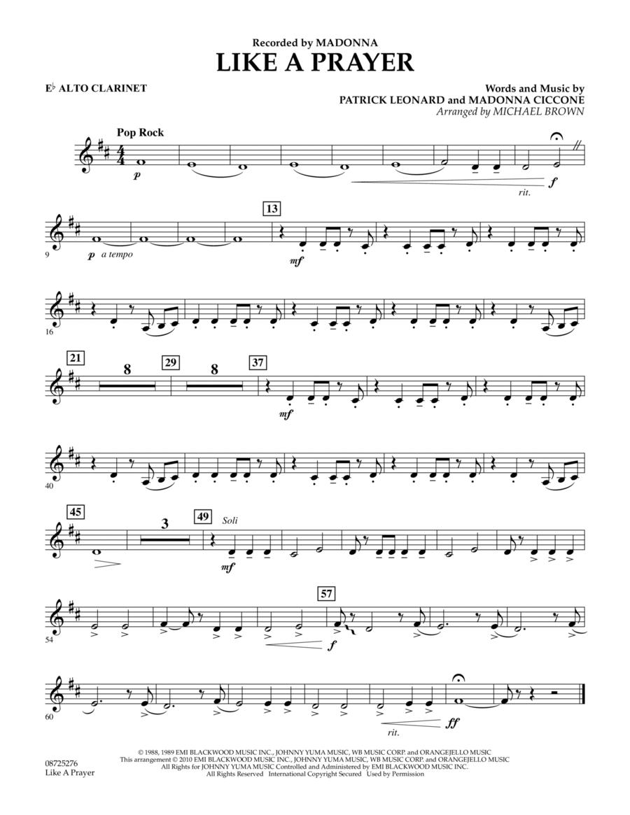 Like A Prayer - Eb Alto Clarinet