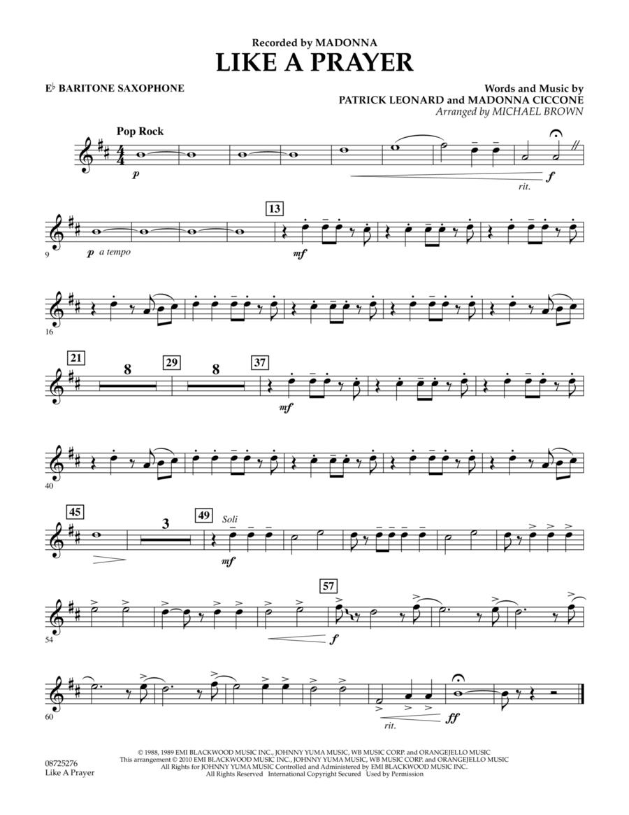 Like A Prayer - Eb Baritone Saxophone