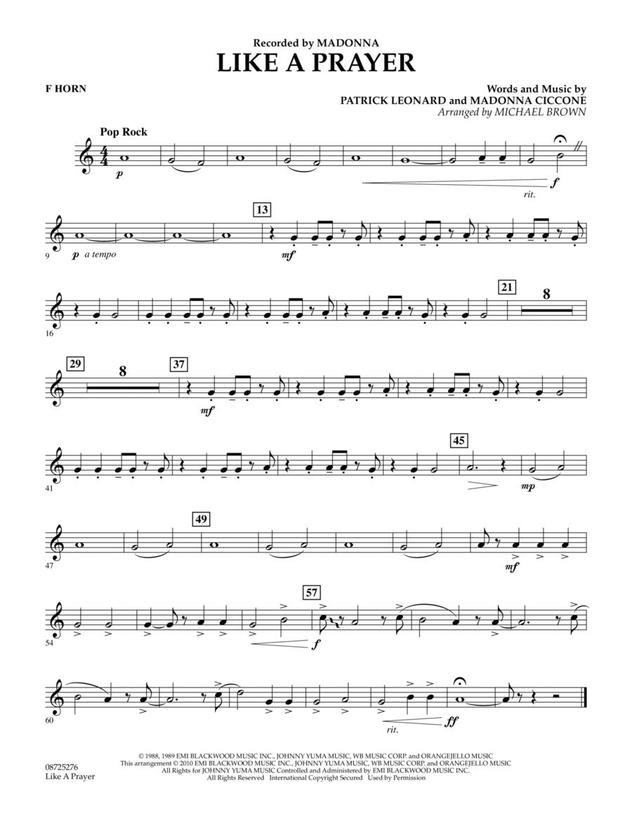 Like A Prayer - F Horn