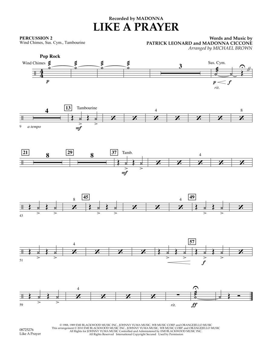Like A Prayer - Percussion 2